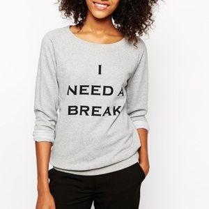 "Vero Moda ""I Need A Break"" Grey Sweatshirt"